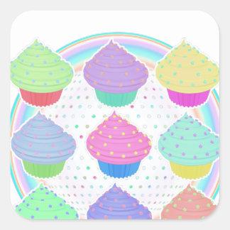 Adesivo Quadrado Cupcakes