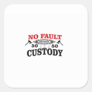 Adesivo Quadrado custódia 50 do divórcio 50 do gavel