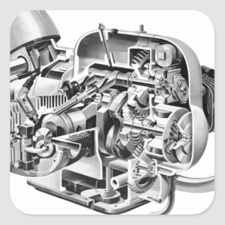 Adesivo Quadrado Cutaway do Airhead