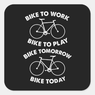 Adesivo Quadrado Da bicicleta ciclismo legal para sempre -