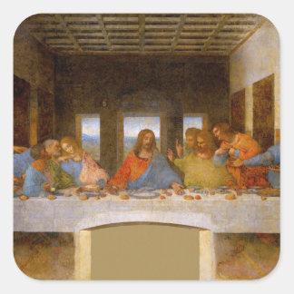 Adesivo Quadrado Da Vinci a última ceia