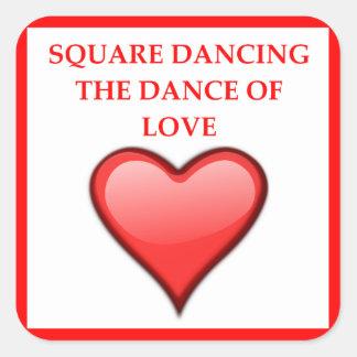 Adesivo Quadrado dança quadrada