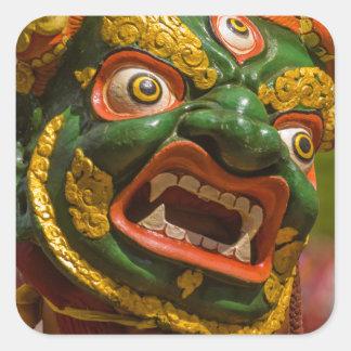Adesivo Quadrado Dançarino mascarado asiático