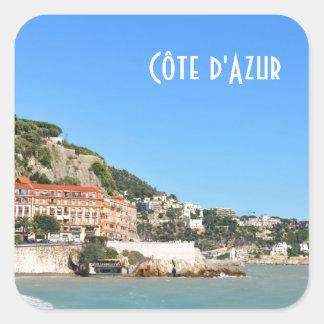 Adesivo Quadrado d'Azur em agradável, France de Côte