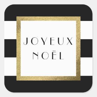 """Adesivo Quadrado De """"feriado preto & branco do Xmas Joyeux Noël"""" da"""