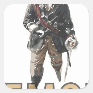 """Adesivo Quadrado De """"limão do pé Peg"""" do pirata"""