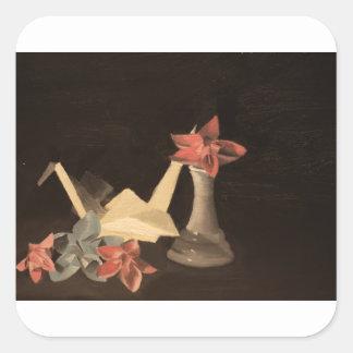 Adesivo Quadrado De Origami vida ainda