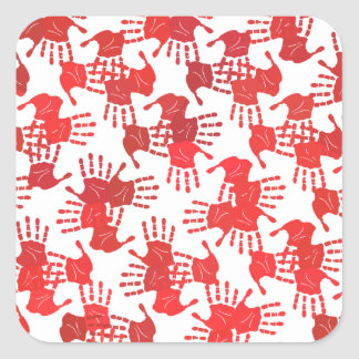 Adesivo Quadrado Dê uma mão
