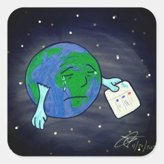 Adesivo Quadrado Decepção global