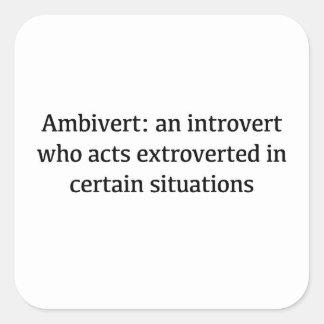 Adesivo Quadrado Definição de Ambivert