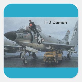 Adesivo Quadrado demónio f-3