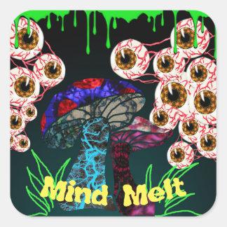Adesivo Quadrado Derretimento da mente do zombi