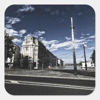 Adesivo Quadrado DES Moulins da rua em Genebra