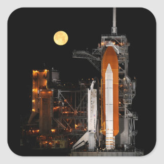 Adesivo Quadrado Descoberta e lua do vaivém espacial