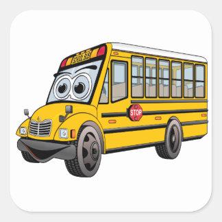 Adesivo Quadrado Desenhos animados 2017 do auto escolar