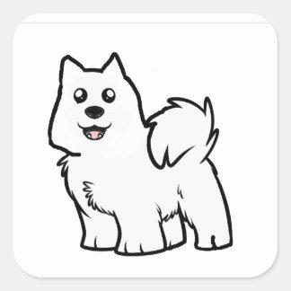 Adesivo Quadrado desenhos animados americanos do cão eskimo