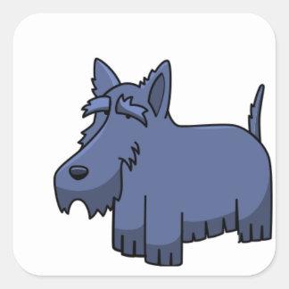 Adesivo Quadrado desenhos animados escoceses 2 do terrier