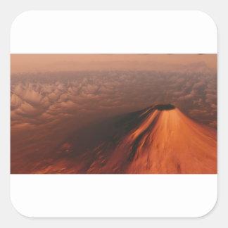 Adesivo Quadrado Deserto estrangeiro do planeta
