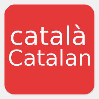 Adesivo Quadrado Design Catalan da língua