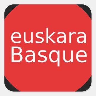 Adesivo Quadrado Design da língua Basque