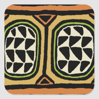 Adesivo Quadrado Design de matéria têxtil de Kuba do africano