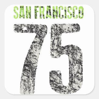Adesivo Quadrado design de San Francisco