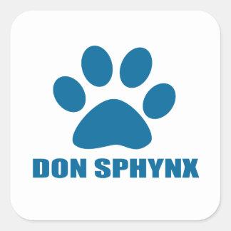 ADESIVO QUADRADO DESIGN DO CAT DE DON SPHYNX