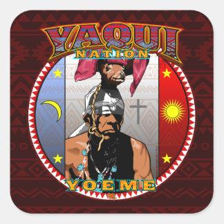Adesivo Quadrado Design do dançarino dos cervos de Yaqui Yoeme