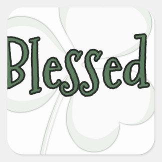 Adesivo Quadrado Design do dia de St Patrick abençoado