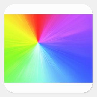 Adesivo Quadrado Design do espectro do arco-íris