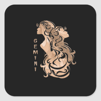 Adesivo Quadrado Design do zodíaco dos Gêmeos