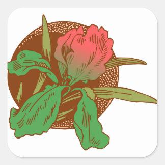 Adesivo Quadrado Design floral