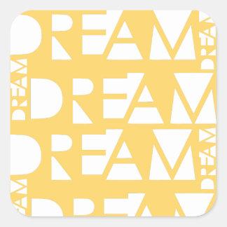Adesivo Quadrado Design geométrico ideal amarelo do entalhe