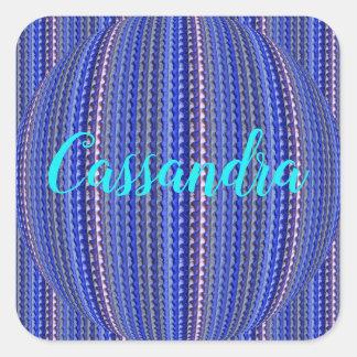 Adesivo Quadrado Design geométrico roxo colorido brilhante mega