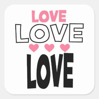 Adesivo Quadrado design legal do amor