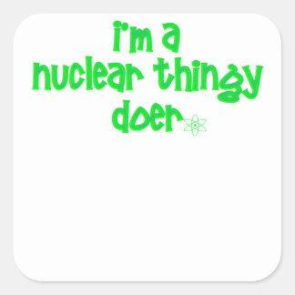 Adesivo Quadrado Design nuclear original