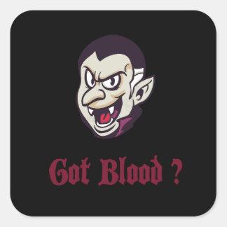 Adesivo Quadrado Design obtido vampiro do sangue