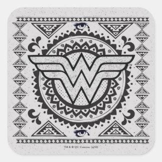 Adesivo Quadrado Design tribal espiritual da mulher maravilha