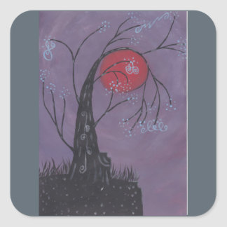 Adesivo Quadrado Despertando a árvore