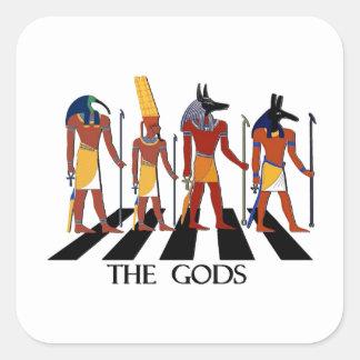 Adesivo Quadrado Deuses da estrada da abadia