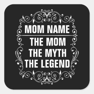 Adesivo Quadrado Dia das mães feliz da mamã