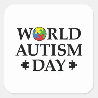 Adesivo Quadrado Dia do autismo do mundo