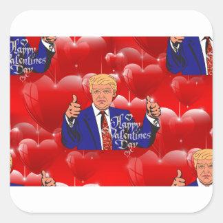 Adesivo Quadrado dia dos namorados Donald Trump