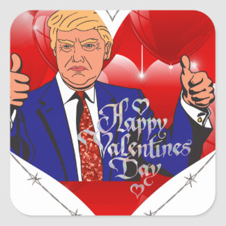 Adesivo Quadrado dia dos namorados feliz Donald Trump