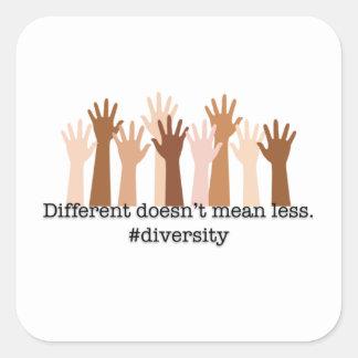 Adesivo Quadrado Diferente não significa menos: Diversidade
