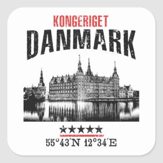 Adesivo Quadrado Dinamarca