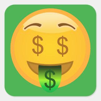 Adesivo Quadrado Dinheiro Emoji