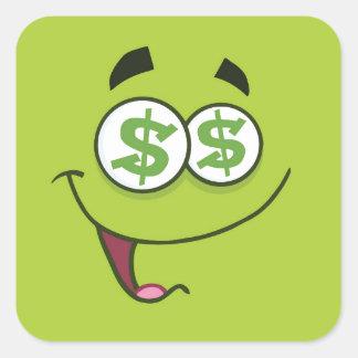 Adesivo Quadrado Dinheiro feliz Emoji