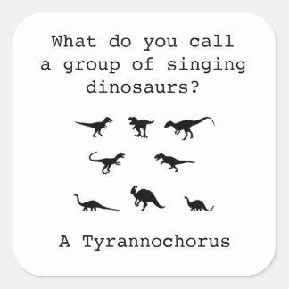 Adesivo Quadrado Dinossauro