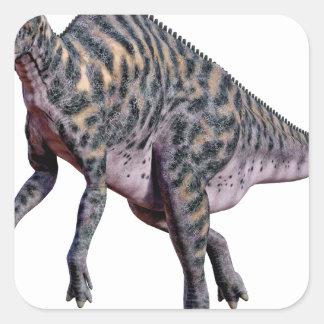 Adesivo Quadrado Dinossauro de Saurolophus
